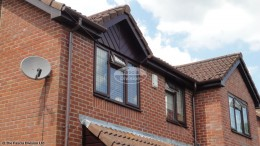 UPVC rosewood fascia soffits brown deep flow guttering