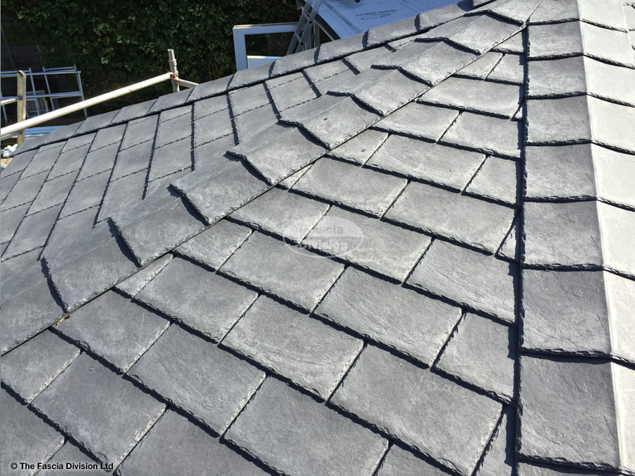 Equinox roof with composite slates on a conservatory the Composite roofing tiles