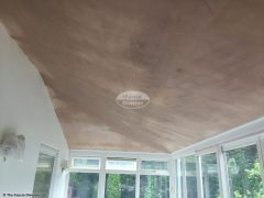Equinox roof inside after being plastered