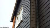 Black Hardieplank cladding, Black ash fasciasand soffit and Black replacement guttering Oxford