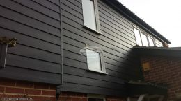 Black Hardieplank cladding with Black ash fascias and soffits Oxford