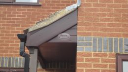 Full replacement fascias soffits and guttering with Rosewood UPVC shiplap cladding on the lower elevation