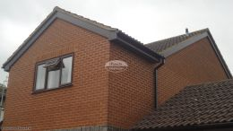 Recent installation of rosewood UPVC fascias soffits and squareline guttering on a detached property Thame Oxford