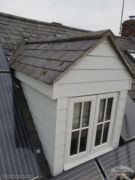 Hardieplank cladding around dorma window in Bicester, Oxfordshire
