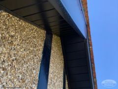 Black UPVC soffit and bargeboards