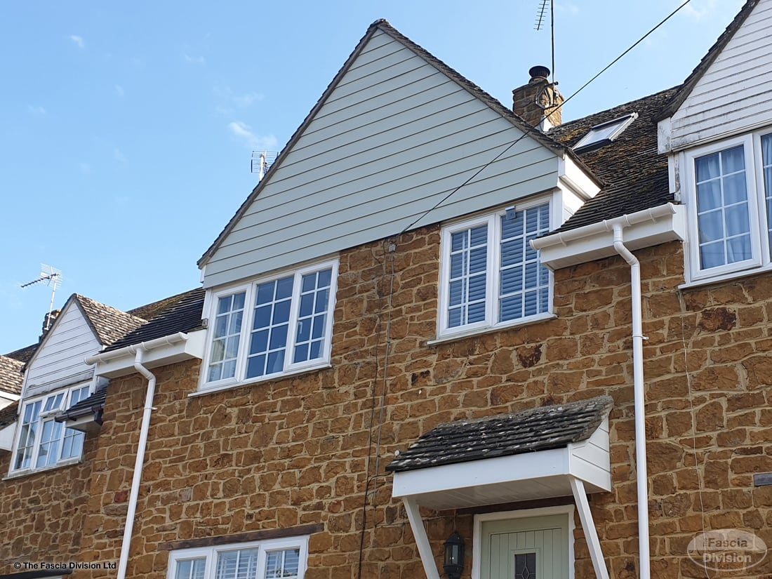 Fascias soffits and guttering with Hardieplank Oxford
