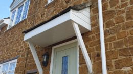 UPVC shiplap cladding and fascias on porch